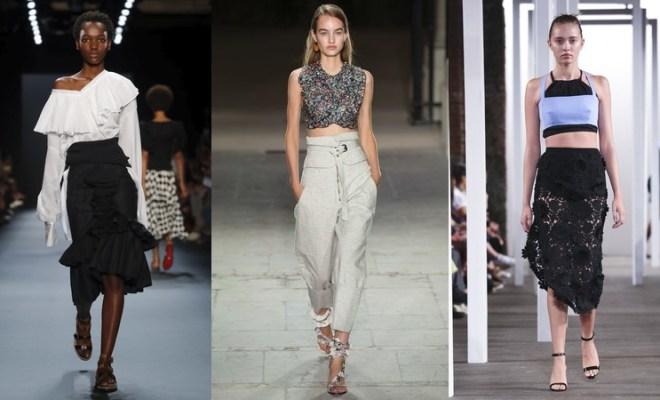 Topuri si tricouri la moda primavara-vara 2017