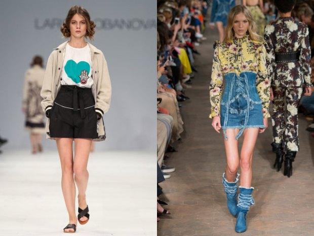 Pantaloni scurti cu talia inalta la moda in 2017