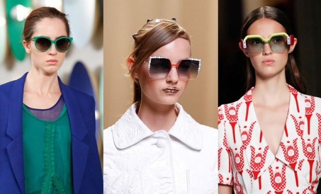 Ochelari de soare la moda primavara-vara 2017