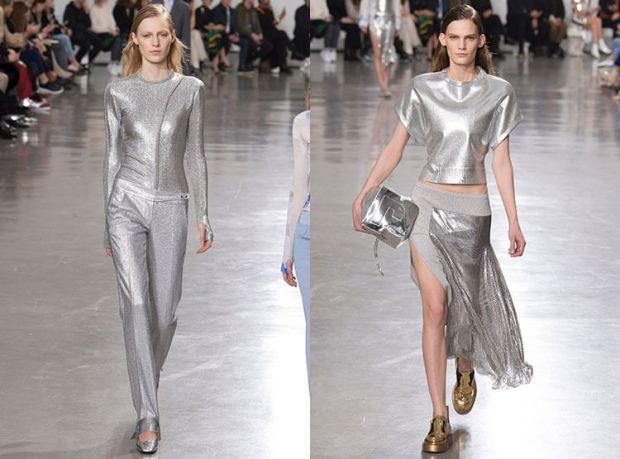 Culoarea argintiu metalic la moda 2018