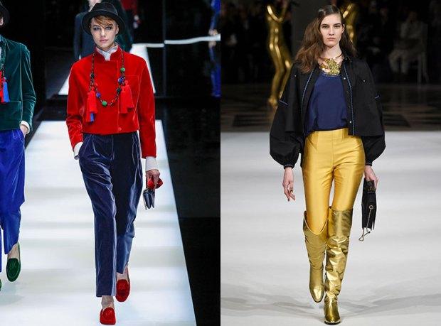 Pantaloni culori la moda
