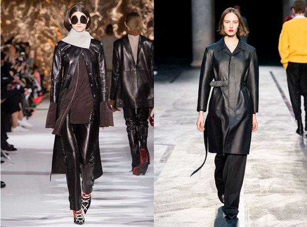 Palton toamna iarna 2017 2018: piele