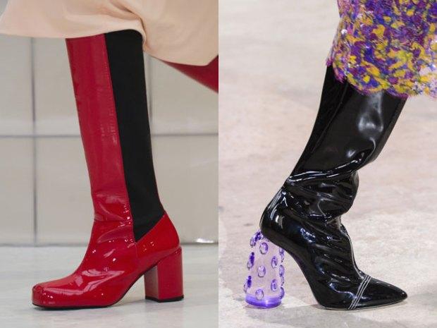 Cizme din piele lacuita la moda 2017 2018