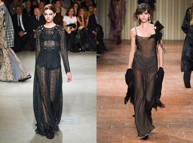 Rochie neagra transpareta la moda
