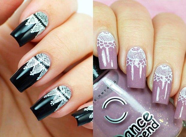Modele unghii dantela