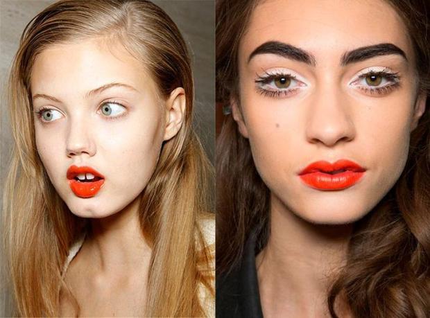 Makeup cu accent pe buze 2018