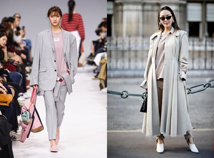 Culoarea gri fumuriu la moda primavara vara 2018