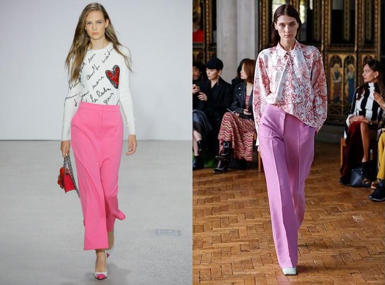 Pantaloni dama roz 2018