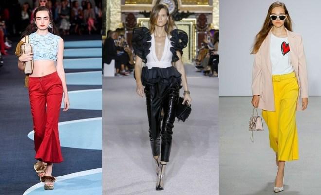 Pantaloni la moda primavara-vara 2018