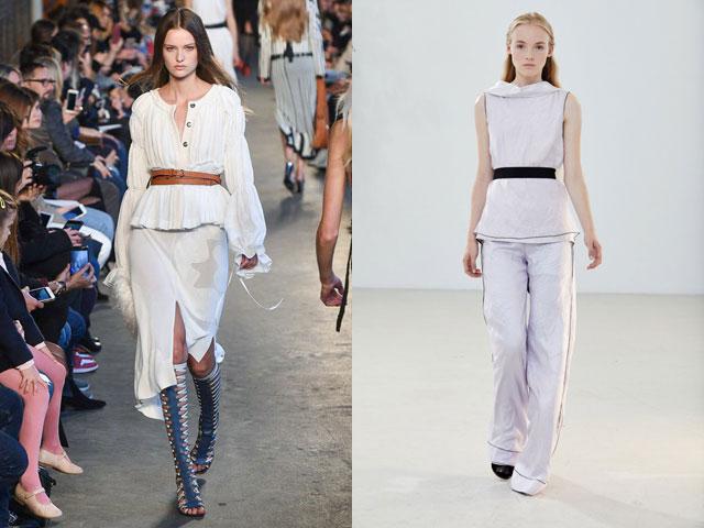 Bluze cu curea la moda in 2018