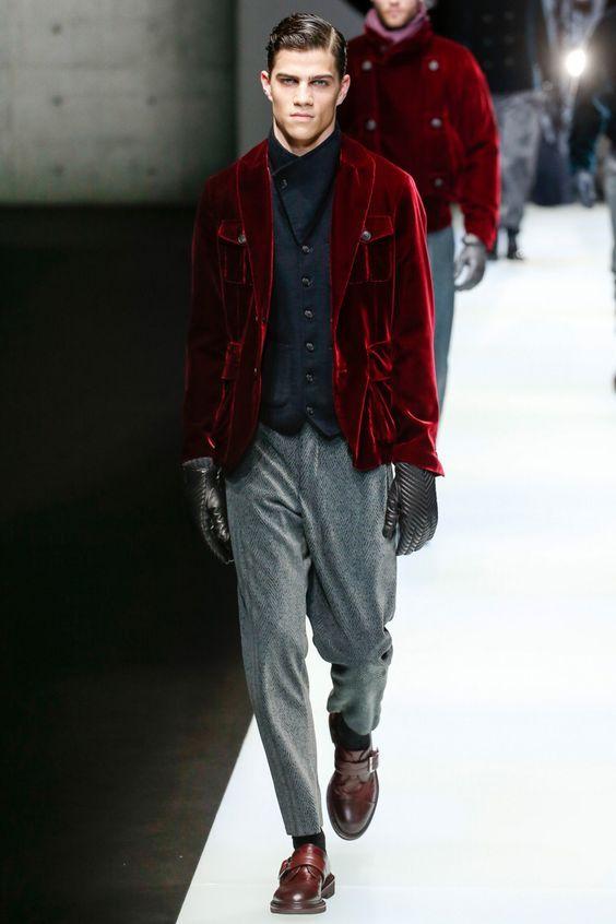 Moda barbati 2018 2019 toana iarna catifea