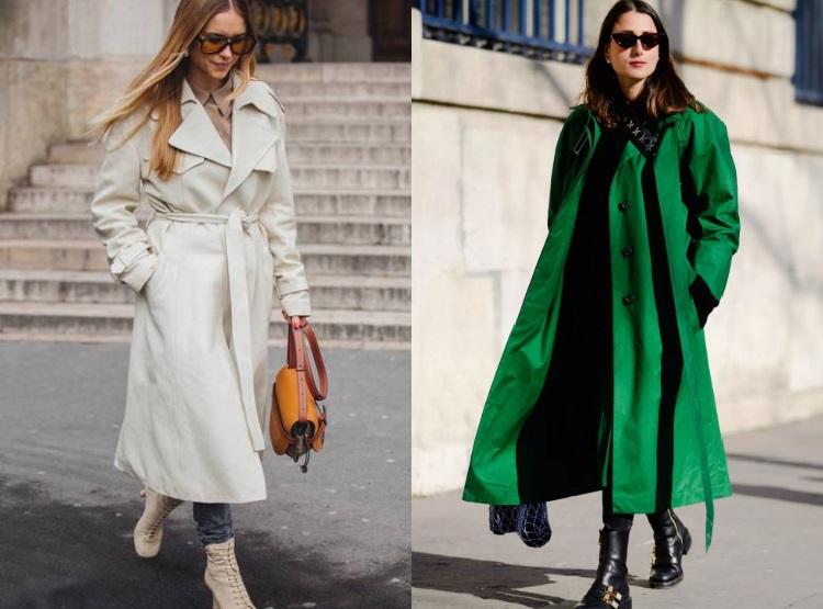 Moda strazii trenciuri elegante