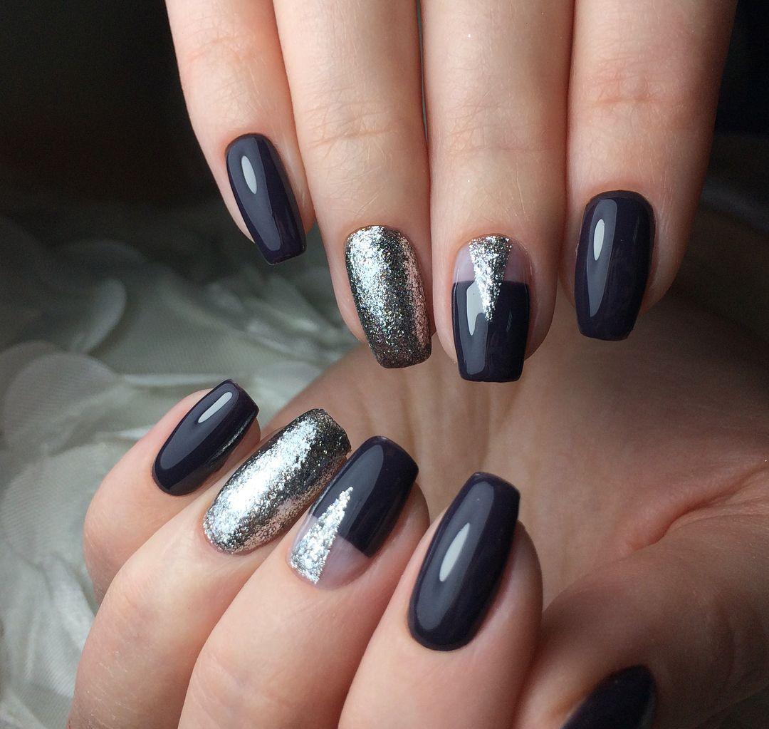 negre cu argintiu