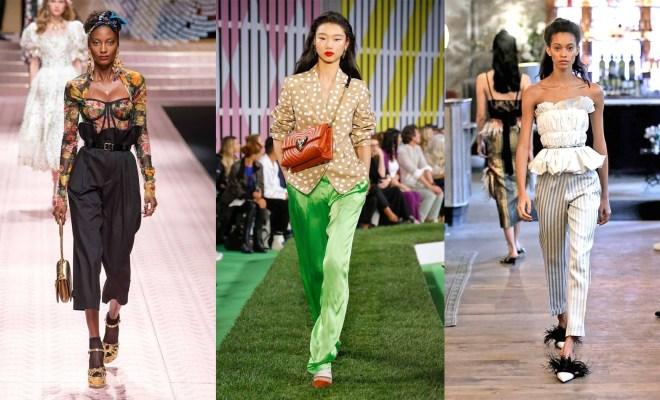 Pantaloni la moda primavara-vara 2019