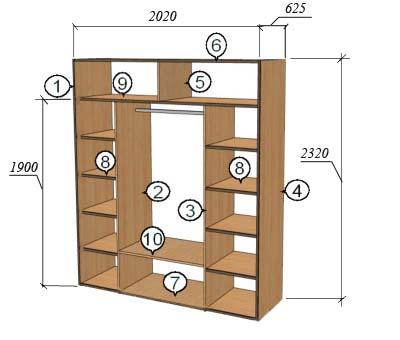 ba2fba8a Hvordan lage en innebygd garderobe. Hvordan lage et innebygd skap  gjør-det-selv (instruksjon)