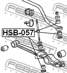 ВТУЛКА СТОЙКИ СТАБИЛИЗАТОРА D8 HSB-057 FEBEST