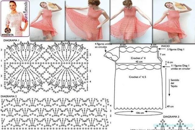 платье крючком схемы