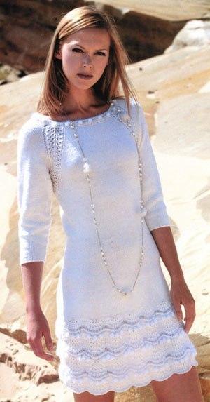 Белоснежное платье спицами «Snow»