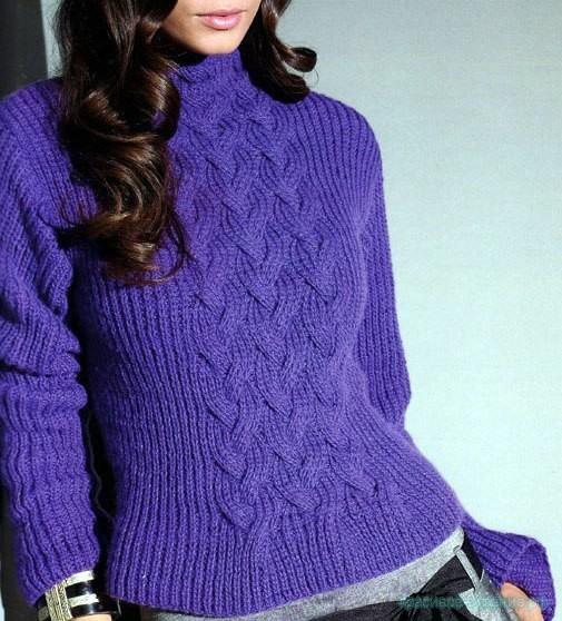 Вязание детского свитера спицами сверху 45