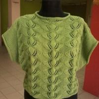 Вяжем красивый пуловер.