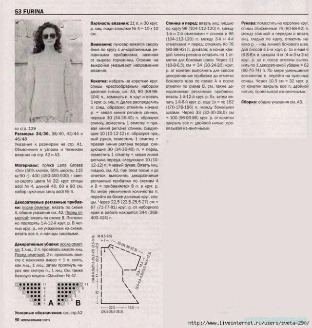 Описание вязание кофты спицами