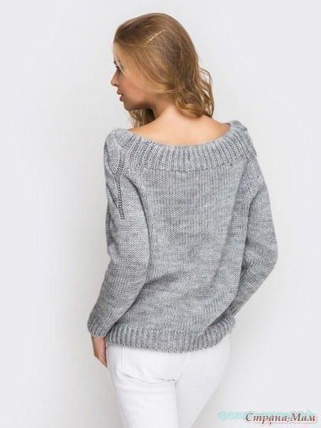 Классный пуловер спицами