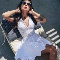 Вяжем платье крючком