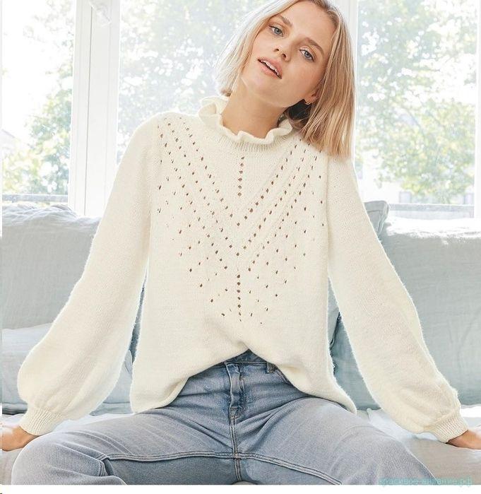 Вяжем стильный пуловер