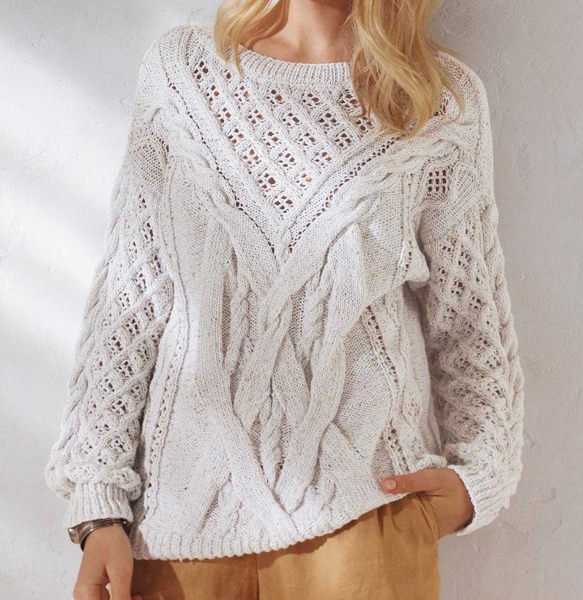 Как связать красивый свитер спицами