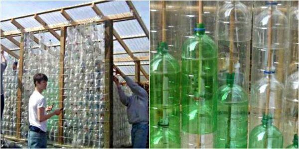 Все пластиковые бутылки везем на дачу!