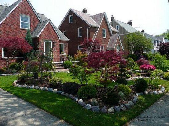 Ландшафтный дизайн перед домом — 25 идей в современном стиле