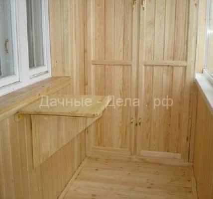 Отделка балкона с помощью вагонки 5