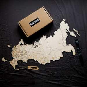 Деревянный пазл карта России купить