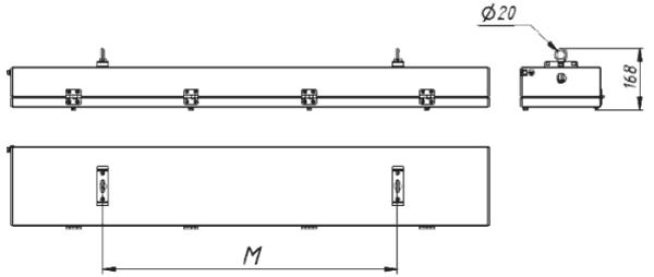 Габаритные и присоединительные размеры СГЛ01-2480С.../Н/Р