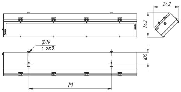 Габаритные и присоединительные размеры СГЛ01-2480С.../Н/С45