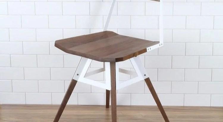 стул со шпоном ореха