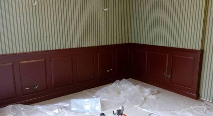 Крашенные стеновые панели