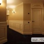 Крашенные стеновые панели в коридоре