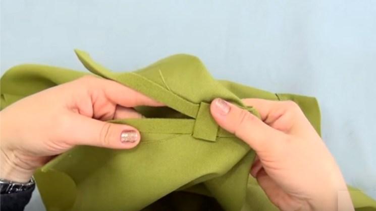 укрепление разреза юбки