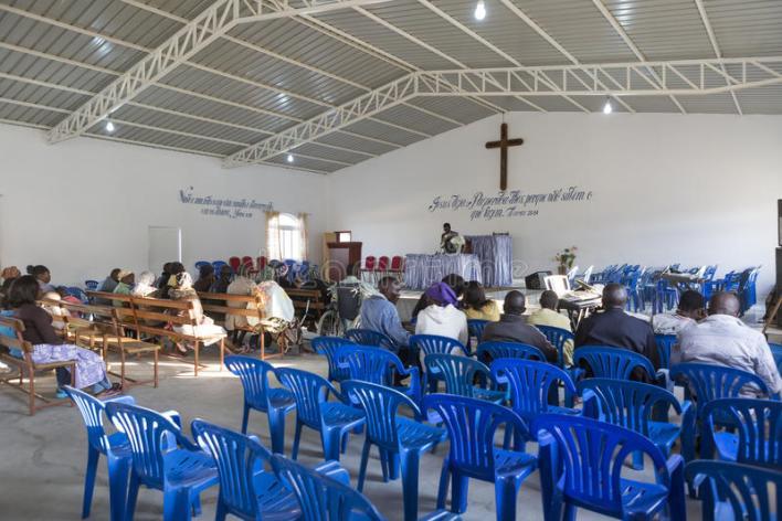 проповедь в африканской церкви
