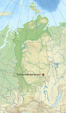 карта тунгусского метеорита