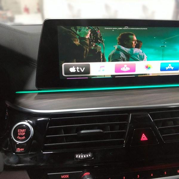 установка Apple tv4 в БМВ 5