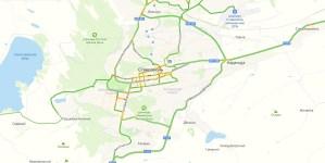 Пробки в Ставрополе онлайн сейчас на Яндекс Карте