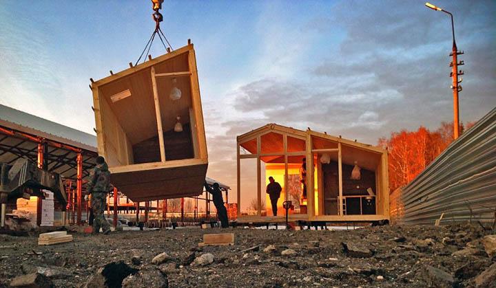 Деревянный модульный дом Киев цена