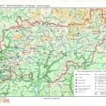 Физическая карта Костромской области. Карта месторождений полезных ископаемых.