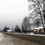 Село Воронье. Вид на храмовый комплекс Троицкой и Успенской церквей