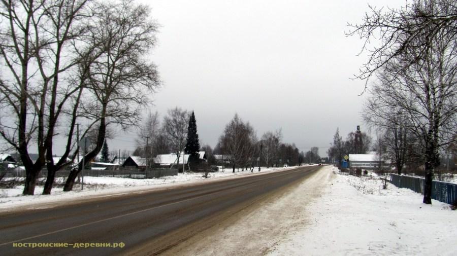 Село Воронье. Дорога на Галич.