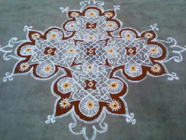 Rangoli Designs with Dots_and_Colours