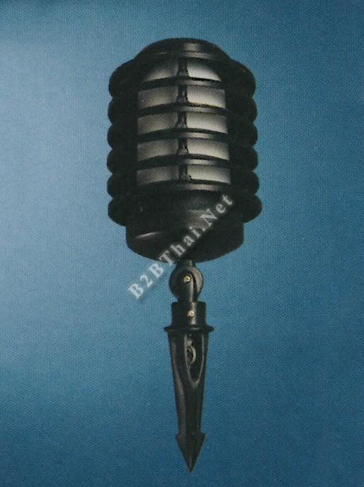 โคมไฟสปอร์ตไลท์ปักดิน สีดำ
