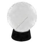 โคมไฟหัวเสาแก้วกลม ขาวขุ่น